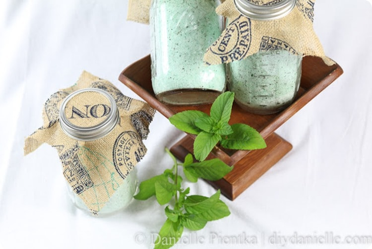 diy danielle orange mint bath salts