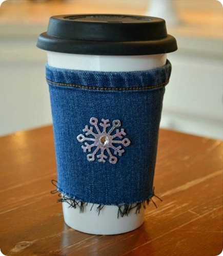 exquisitely unremarkable denim cup cozy