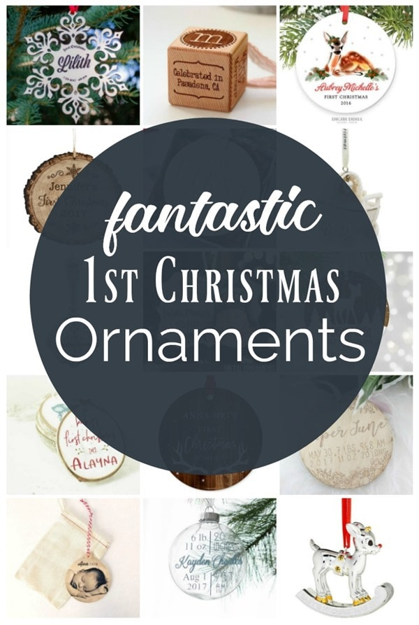 Fantastic options for baby's first christmas ornament. Unique, creative, and beautiful options that will look great on any Christmas tree.