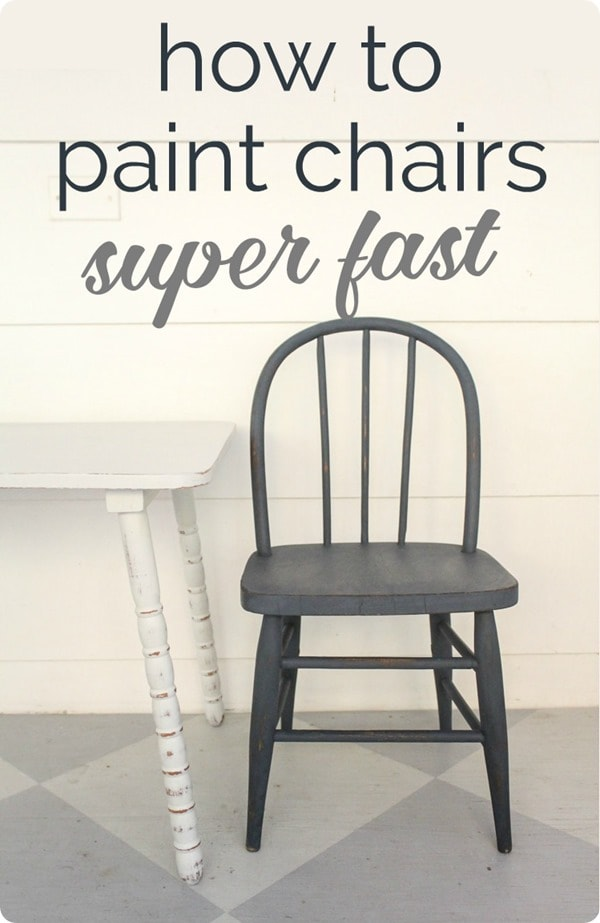 Learn how to paint chairs and furniture super fast.
