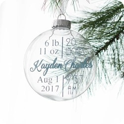 modern mamas boutique first christmas ornament 2