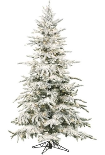 mountain pine flocked christmas tree with lights