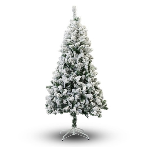inexpensive flocked Christmas tree
