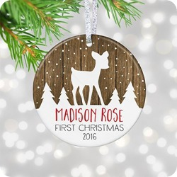 personalized gift first christmas ornament