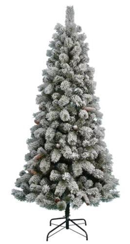 st nick flocked christmas tree