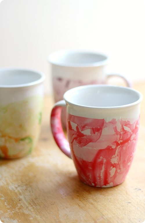 strength and sunshine marbled coffee mugs