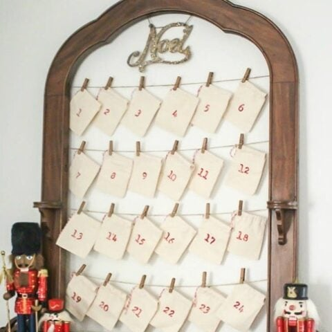 How to make an inexpensive reusable advent calendar