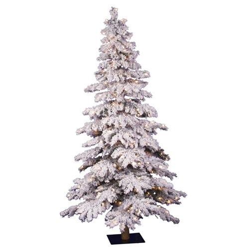 vickerman flocked Christmas tree with lights