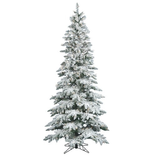vickerman slim 6.5 foot flocked christmas tree