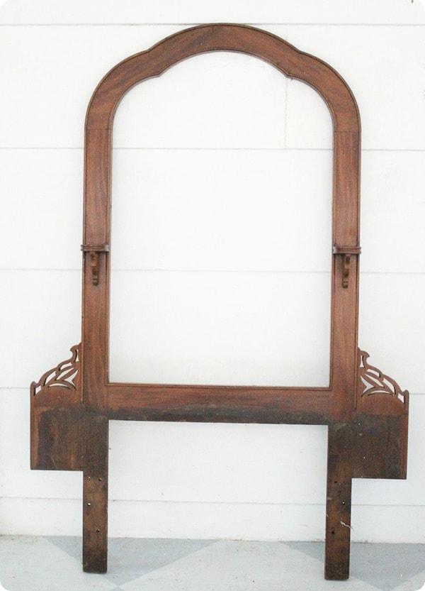 vintage mirror frame for making reusable advent calendar.