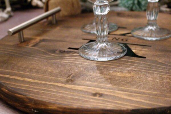 diy wood board serving tray.