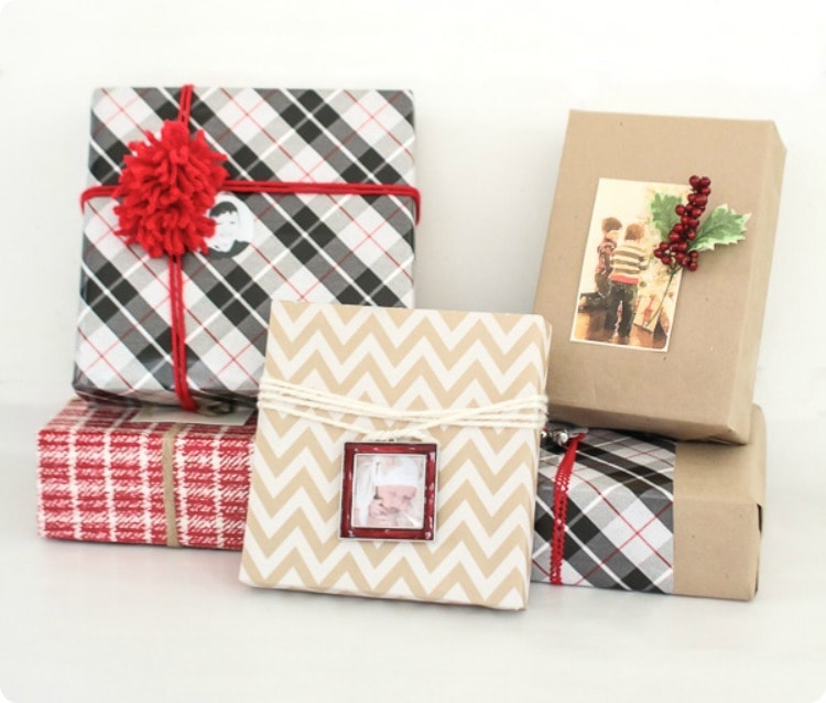 3 ways to wrap gifts using photos