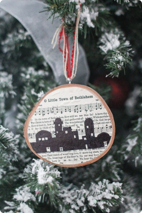 O Little Town of Bethlehem Christmas ornament