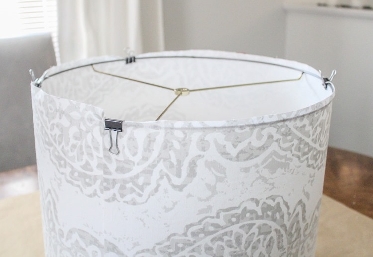adding ring to lampshade