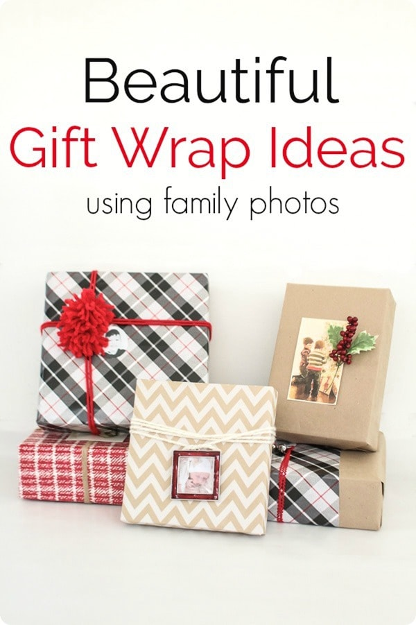 3 Beautiful gift wrap ideas using family photos