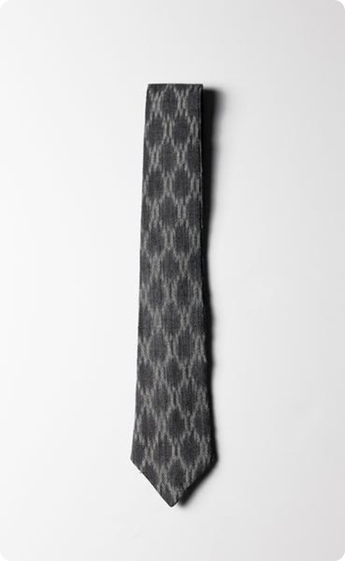 darkgray ikat tie