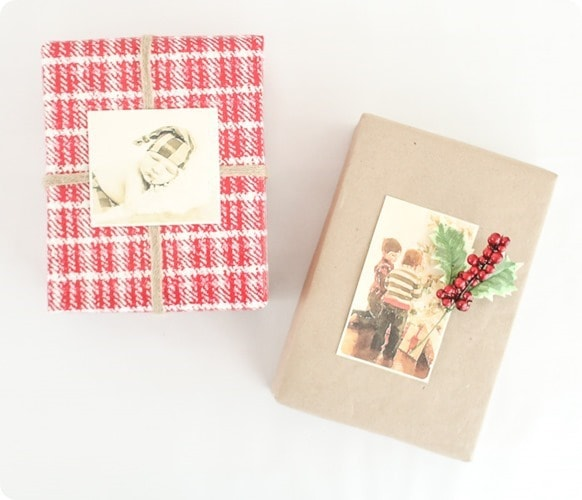 diy photo gift wrap