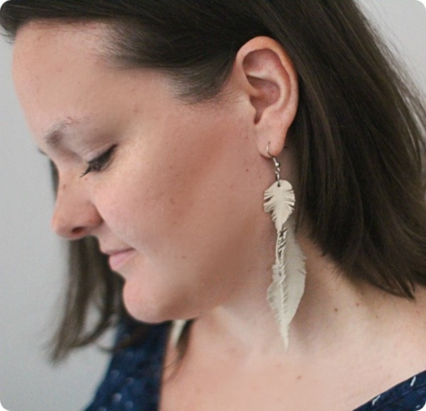 feather earrings 2