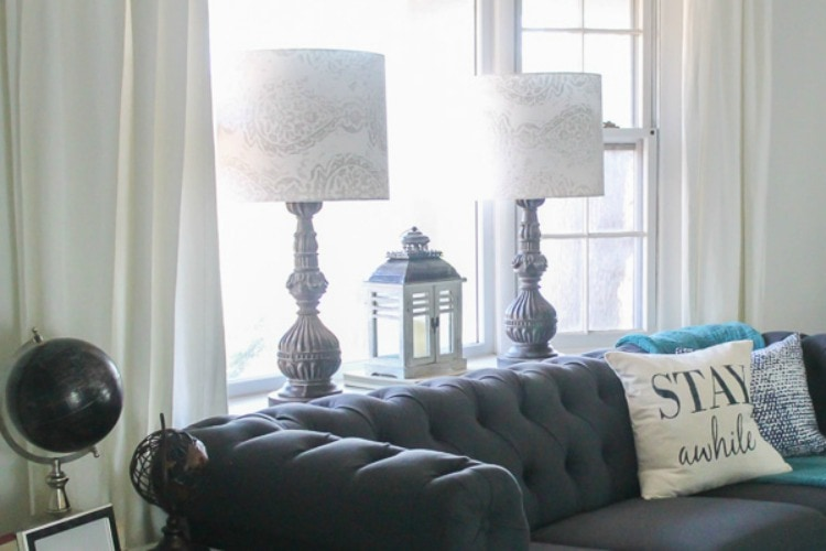 How to make a lampshade with your favorite fabric