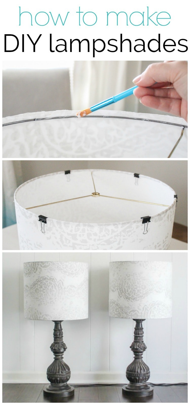 How to make a lampshade - making custom diy lampshades is a quick and easy project.