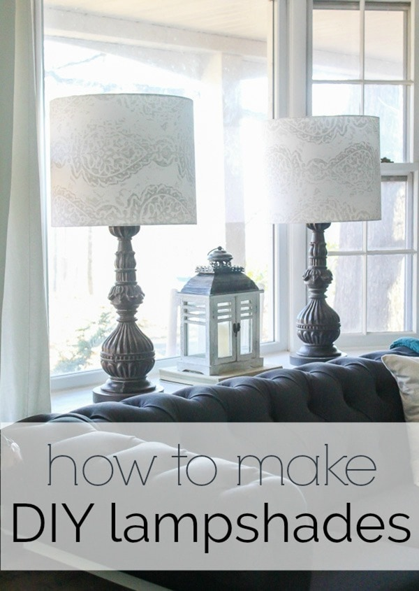 How to make a lampshade for any lamp. Making professional looking diy lampshades is much easier than you would think. Step by step tutorial.