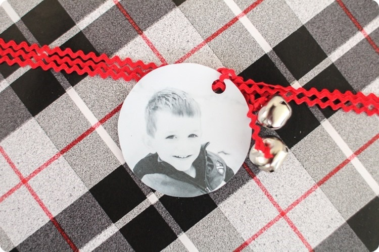 how to make photo gift tags