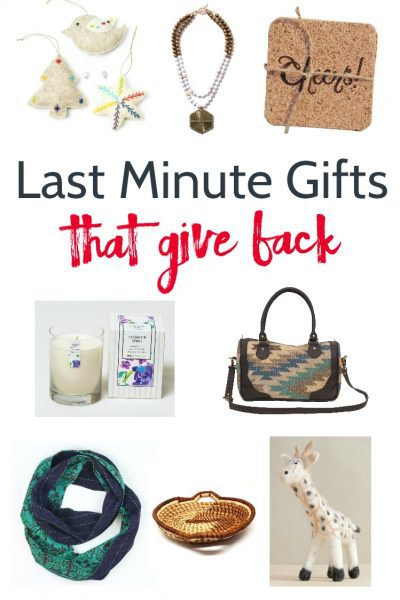 Last minute gifts that give back. Beautiful fair trade gifts that are available with 2 day shipping. Do some ethical shopping this year.