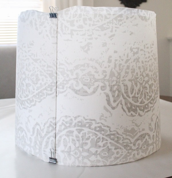 making a diy lampshade