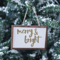Easy DIY Farmhouse Christmas Ornaments