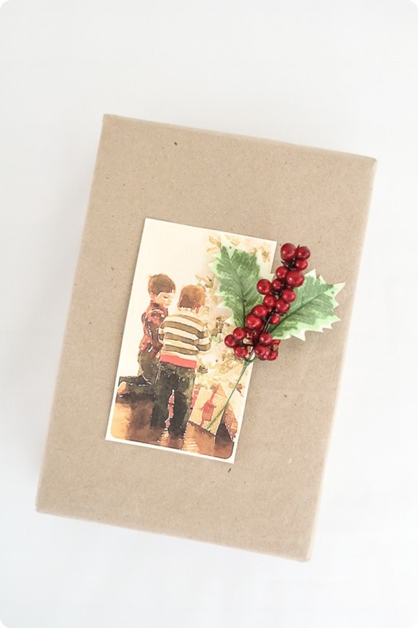 turning Christmas photos into beautiful wrapping