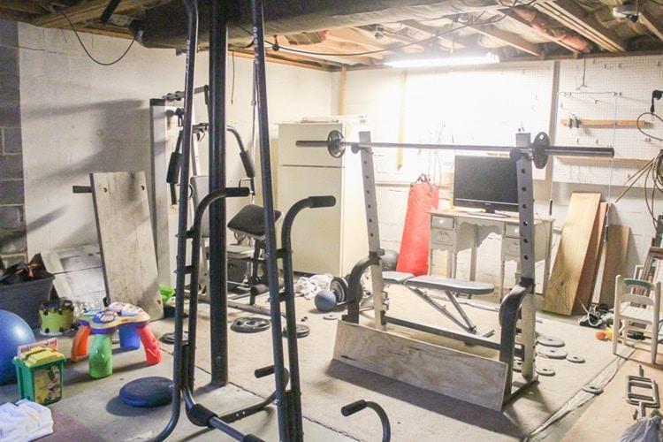 basement gym before