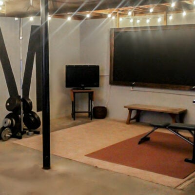 Creating a Home Gym in an Unfinished Basement on a $100 Budget
