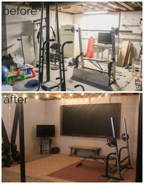 Unfinished basement to industrial home gym on a $100 budget lovely