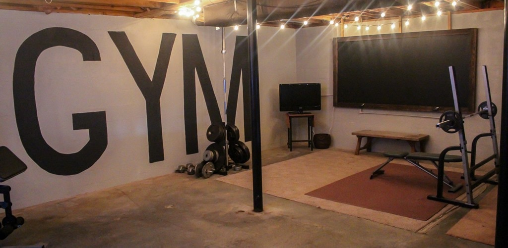 Home Gym Design: Unfinished Basement To Industrial Home Gym On A $100