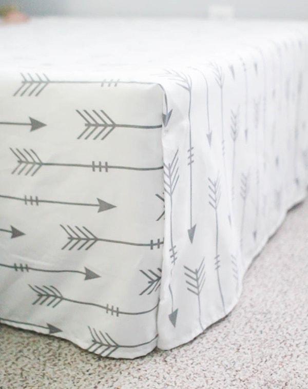 bed skirt made from flat sheet