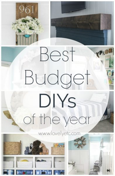 Looking for some cheap and easy ways to add style to your home. These are the best budget diy projects of the year from lovelyetc.com