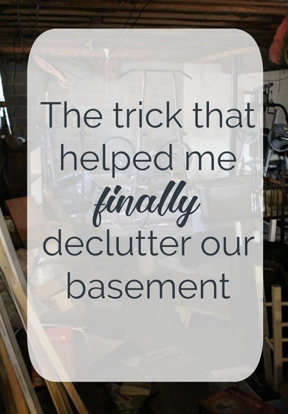 declutter basement