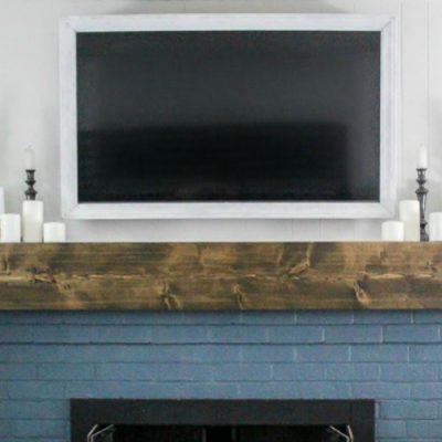 How to build a cheap and easy TV frame that swivels