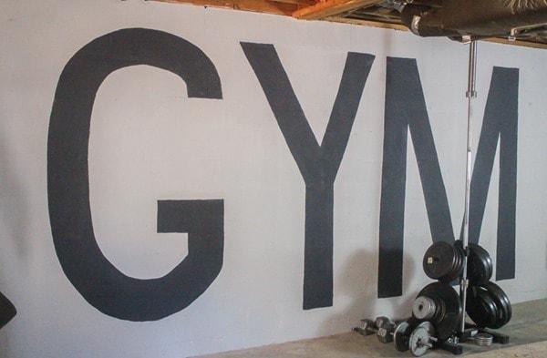 huge gym mural