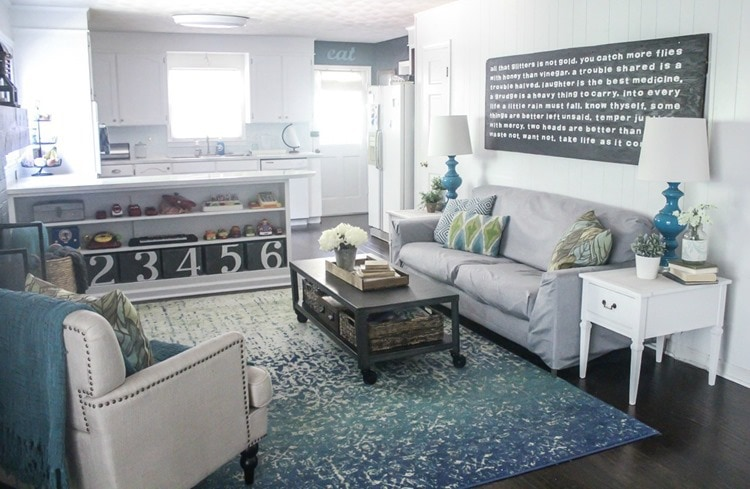 inexpensive diy family room