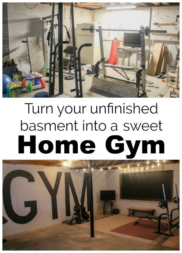 Unfinished basement to industrial home gym on a