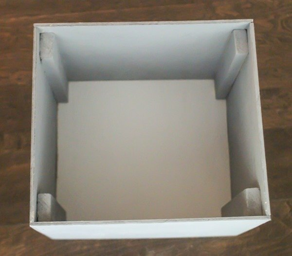inside of easy diy wooden box