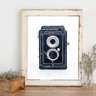 Free Printable Art: Watercolor Vintage Cameras