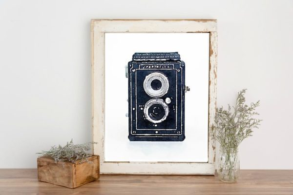 photograph regarding Camera Printable identify Free of charge Printable Artwork: Watercolor Common Cameras - Magnificent And so on.