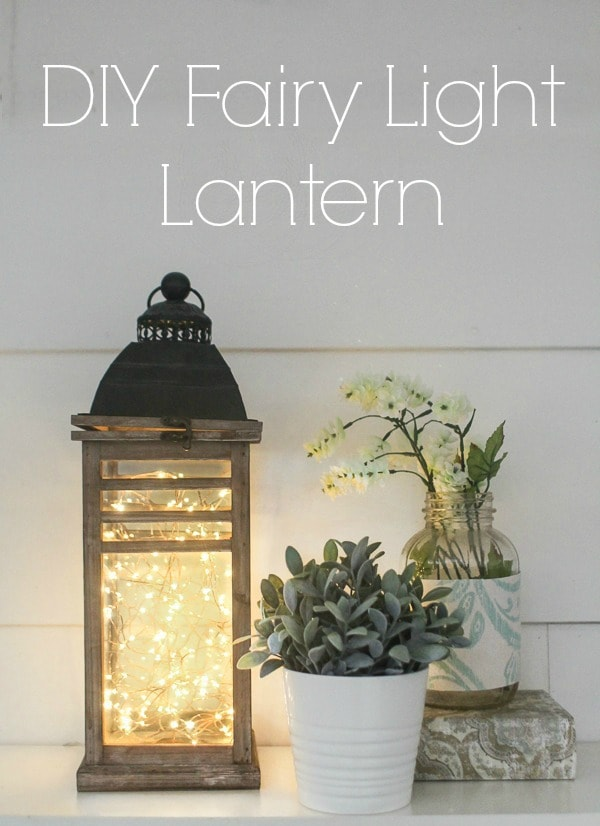 This fairy light lantern is super simple to make in only five minutes using string lights and any lantern.  Add a gorgeous glow to any space in your home or use these as creative lighting for your wedding or other special event.