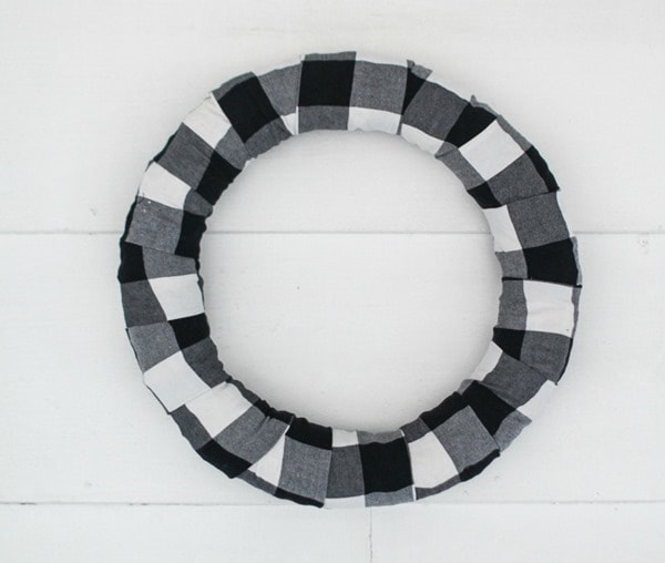 plain buffalo plaid wreath