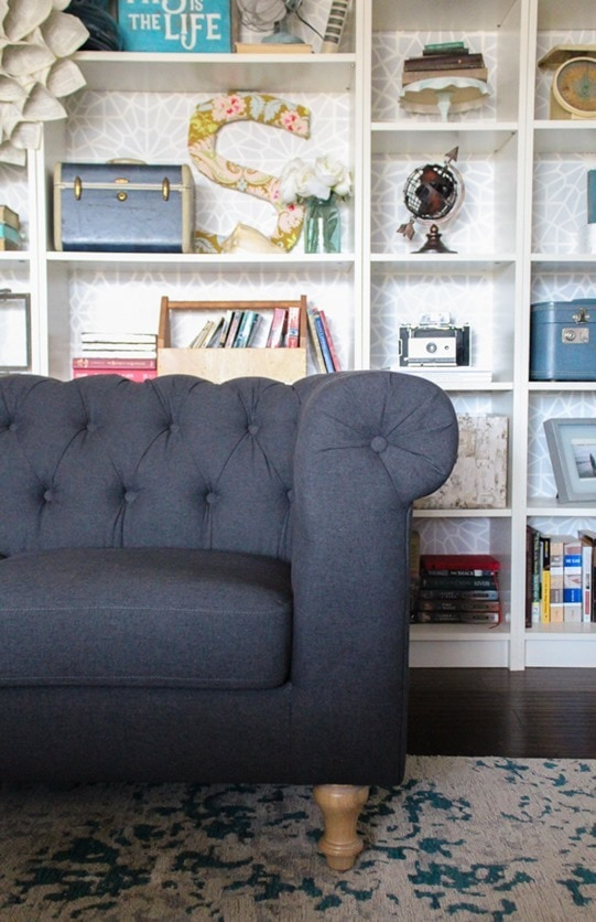 This Gray Tufted Sofa Is Gorgeous And Is Exactly What I Was Looking For In A