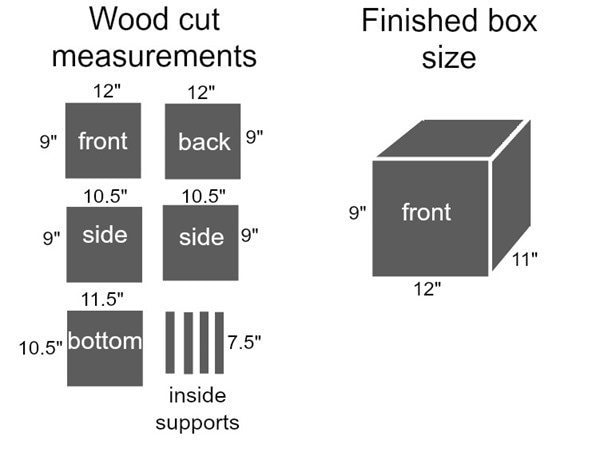 how to make a wooden box in any size - lovely etc. box sizes diagram small box size lovely etc.