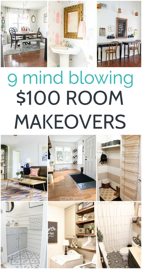 Looking for some gorgeous room makeovers on a budget? These rooms are full of gorgeous budget home decor and DIY projects and each room cost less than $100!