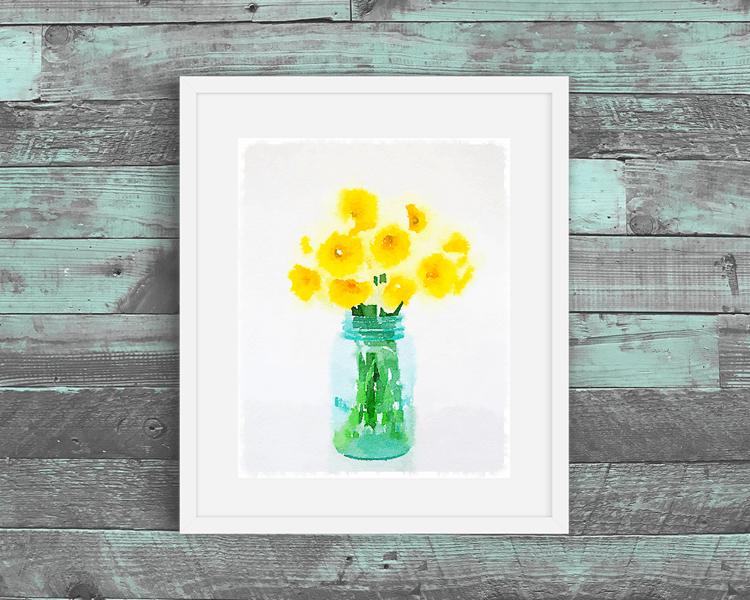 daffodils free printable